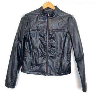 Miss London faux leather jacket medium long sleeve